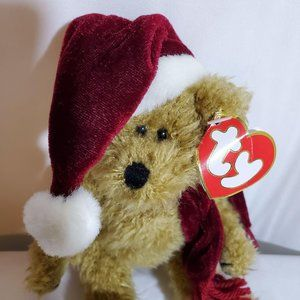 "Ty Jangle 1993 Christmas Bear Plush 8.5"""